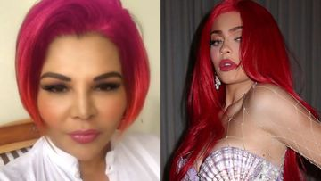 Rakhi Sawant's Hair Looks Like A Tacky Version of Kylie Jenner's Red Hair; Gets Trolled For Her Experiment-VIDEO