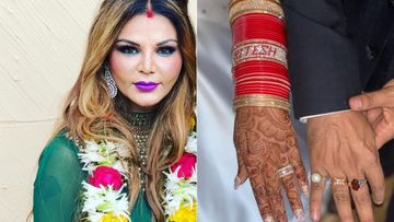 INSIDE PIC- Rakhi Sawant Shares FIRST WEDDING PICTURE With Ritesh And Deletes Quickly But We Got It