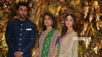 Armaan Jain Wedding Reception: Lovebirds Ranbir Kapoor, Alia Bhatt Arrive With Mom Neetu Kapoor; Nazar Na Lage