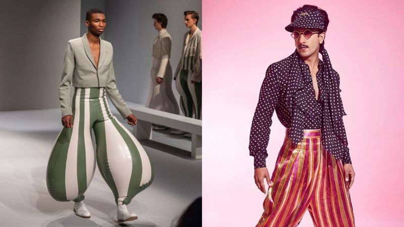 Indian Student Introduces Crazy, Balloon-Sized Pants On The Runway; Umm, Ranveer Singh, Are You Reading This?