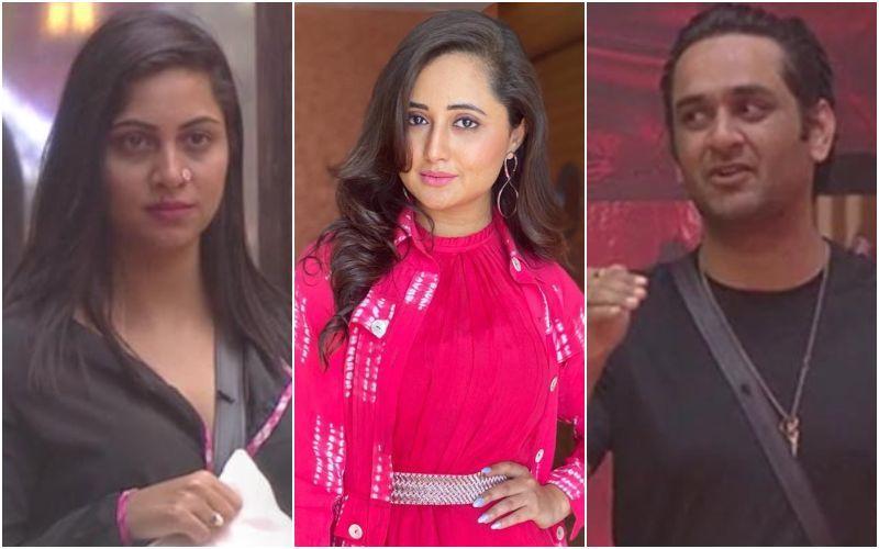 Bigg Boss 14: Rashami Desai SLAMS Arshi Khan For Speaking Ill Against Vikas Gupta, Calls Her A Scissor; Says, 'Seedha Khatam Kar Deti Hai'
