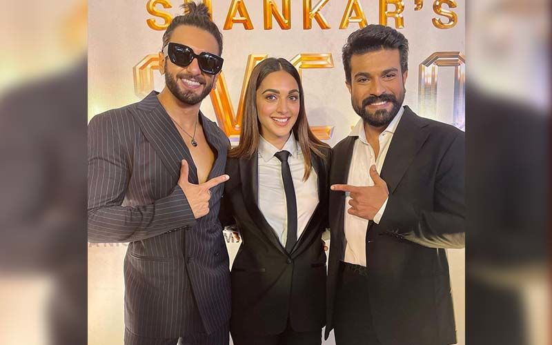 RC 15: Ram Charan, Ranveer Singh, And Kiara Advani Look Dapper In A Suit For The Mega Launch Of Shankar's Film - Watch Video