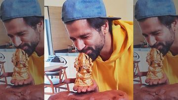 Ganesh Chaturthi 2020: Rithvik Dhanjani Sculpts An Eco-Friendly Idol With Clay; Gushes Bappa Is 'On His Way' - PIC