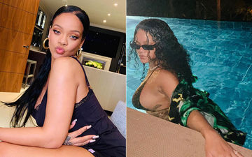 Rihanna Goes Midnight Swimming In The TINIEST FENTY BIKINI Ever – See Pictures