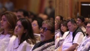 Shweta Bachchan Nanda Cries Inconsolably At Late Mom-In-Law Ritu Nanda's Prayer Meet; Amitabh Bachchan, Navya Get Emotional