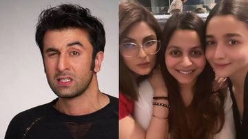 Ranbir Kapoor's Expressions Are Unmissable As He Is Flanked By His Girls Alia Bhatt, Riddhima Kapoor, Shaheen Bhatt At A Family Gathering– PICS