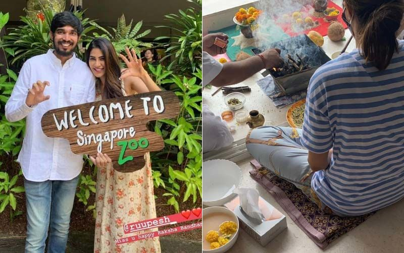 Bigg Boss 14 Fame Nikki Tamboli Holds Pooja At Her Residence For Her Brother's Well-Being As He Fights COVID-19- PICTURES