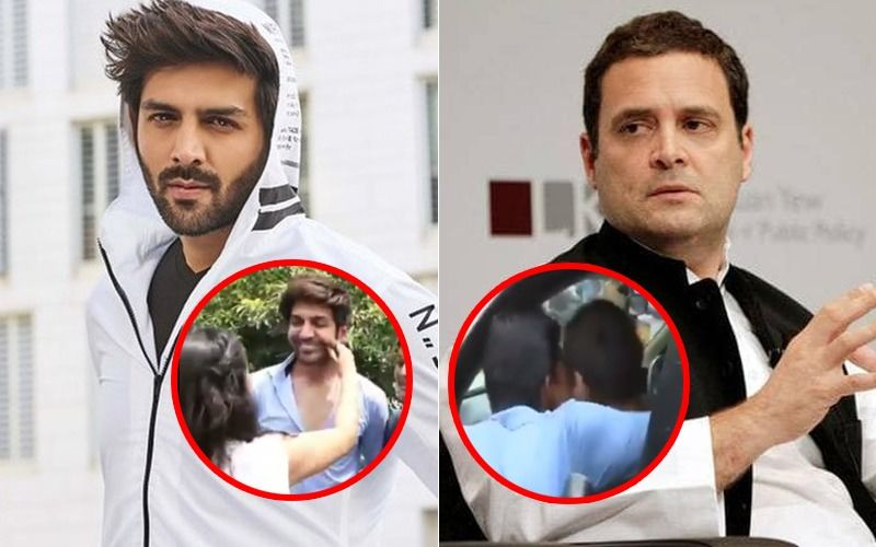 Rahul Gandhi And Kartik Aaryan's Cheeks Are In Demand Today: Watch Video To Know The Connect