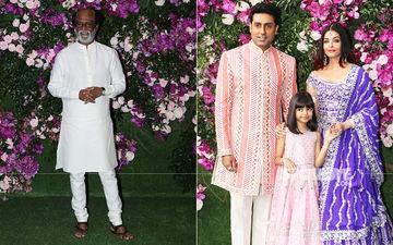 Akash Ambani-Shloka Mehta Wedding: Rajinikanth, Abhishek-Aishwarya Arrive For The Ceremony