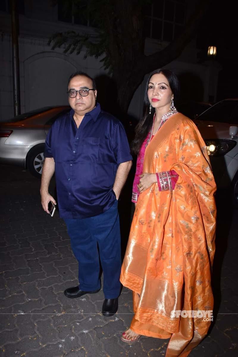 Rajkumar Santoshi With his wife Manila Santoshi
