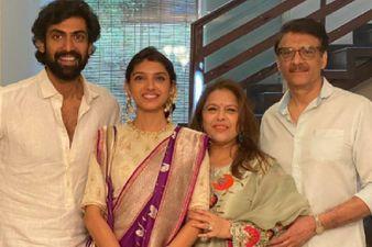 Rana Daggubati With His Wifey Miheeka Bajaj Kicks Off The Festive Season In Style; Family Pic Is Goals