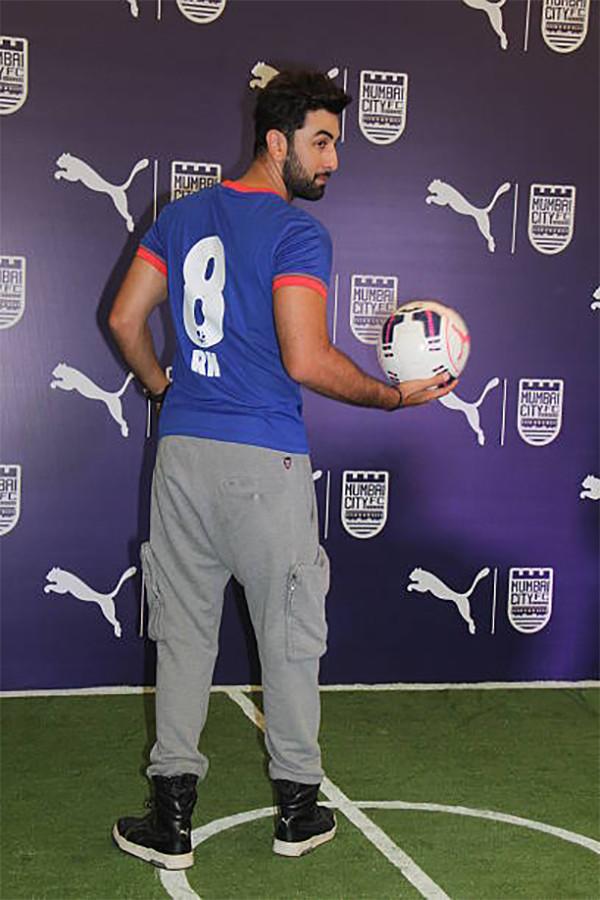 Ranbir Kapoor Sporting His Number 8 Jersey