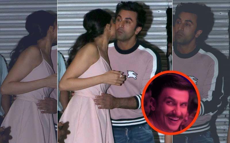 Exes Deepika Padukone And Ranbir Kapoor Shake A Leg On Ranveer Singh's Aankh Marey – Watch Video