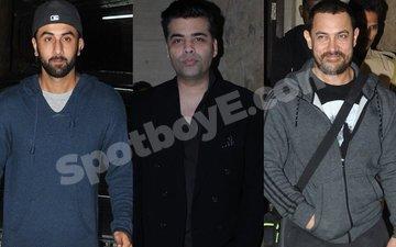 Ranbir Kapoor, Karan Johar Watch Aamir Khan's Dangal
