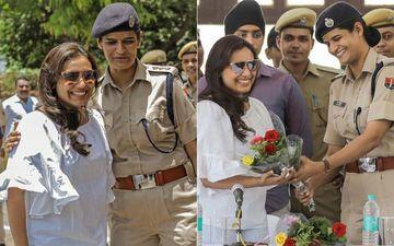 Amidst Mardaani 2 Shoot, Rani Mukerji Meets The Police Force At Kota