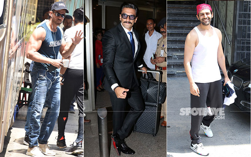 Celeb Spotting: Ranveer Singh Heads To London For 83', Hrithik Roshan Spotted Shooting At A Mumbai Studio