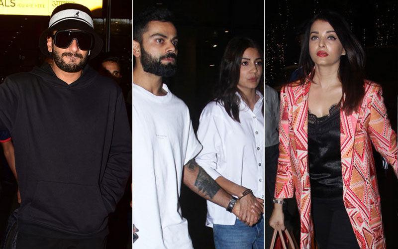 एअरपोर्ट पर दिखा बॉलीवुड सितारों का जलवा, रणवीर सिंह से लेकर ऐश्वर्या राय बच्चन तक आई नजर