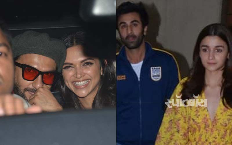 रणवीर सिंह और आलिया भट्ट की फिल्म गली बॉय की स्क्रीनिंग पर पहुंचे रणबीर कपूर और दीपिका पादुकोण: देखिए तस्वीरें