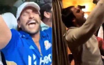 Ranveer Singh Parties Hard With Team '83, Actor Sings Tum Toh Thehre Pardesi Like A Pro!