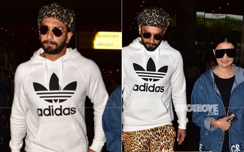 Ranveer Singh Papped At The Airport With His Sister;  Those Tiger Print Pants Are Too Eye-Catching
