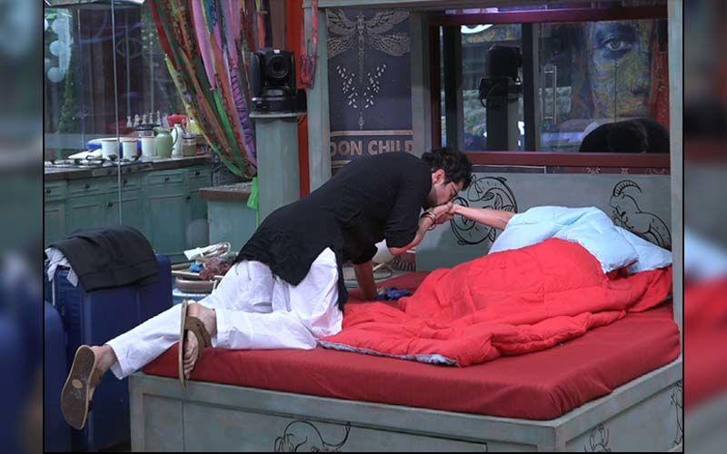 Bigg Boss OTT: Raqesh Bapat Kisses Shamita Shetty's Hand To Wake Her Up; Is Something Brewing Between The Two?