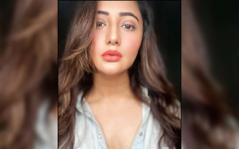 Rashami Desai Is Too Hot To Handle As She Rocks A Plunging Neckline Outfit In Lemon Green; Jacket In Dollar Print Is FAB - Pics