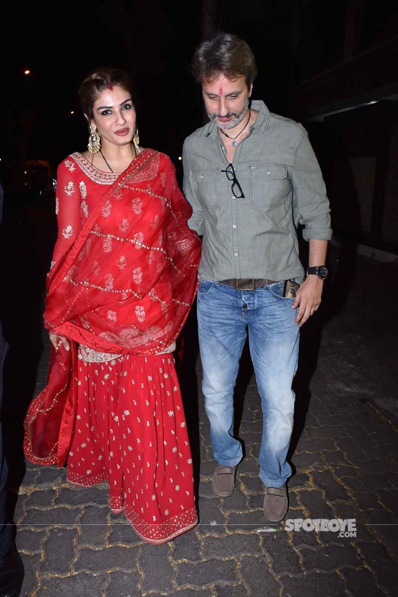 Raveena Tandon With Hubby Anil Thadani
