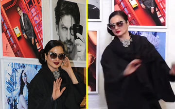 Rekha Accidentally Poses In Front Of Amitabh Bachchan's Photo And Here's What Happened When She Realised It- Epic Video!