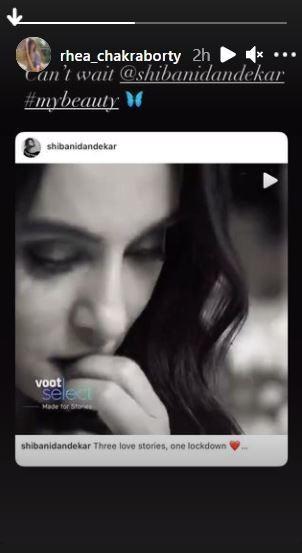 Rhea Chakrabortys Instagram stories