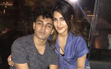 Brother Showik Chakraborty Tightly Holds On To Rhea Chakraborty As He Escorts Her Inside ED Office