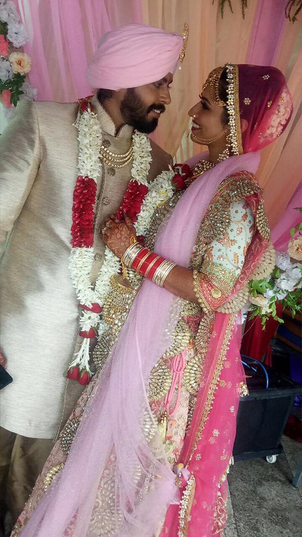Ridheema Tiwari And Jaskaran Singh Tie The Knot
