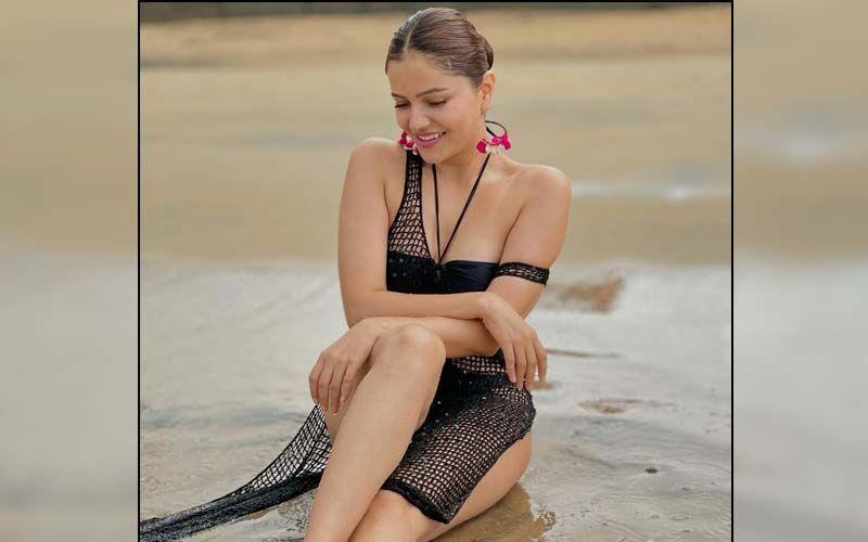 Rubina Dilaik Slips Into A Black Monokini Setting The Internet Ablaze; Abhinav Shukla Drops A Fiery Comment