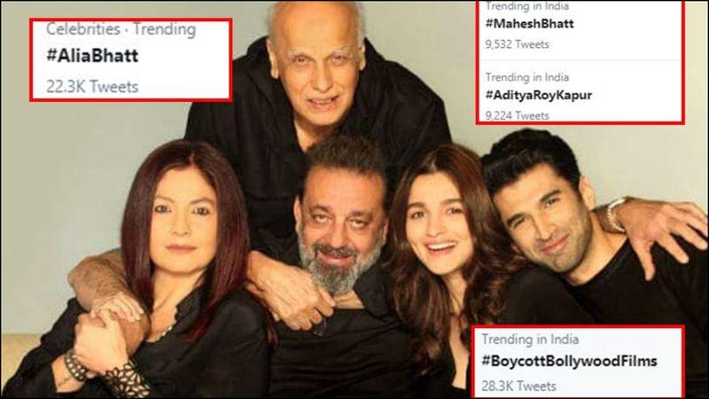 Enraged Netizens Trend #BoycottBollywoodFilms After Alia Bhatt Announces The OTT Release Date Of Sadak 2