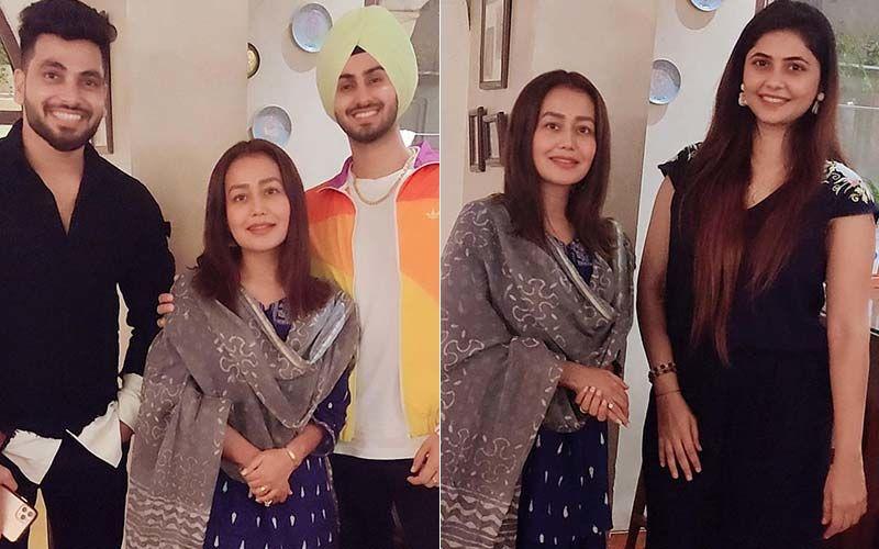 Shiv Thakrey And Veena Jagtap Candid With The Popular Newly-Weds Neha Kakkar And Rohanpreet Singh
