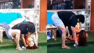 Bigg Boss 13: Sidharth Shukla Violently Twists Shehnaaz Gill's Arm, Forces His Leg On Her Stomach; Netizens Scream HARASSMENT – DISTURBING VIDEO