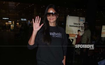 Katrina Kaif Is The Lady In Black; Actress Rocks Comfy Co-ords At The Airport