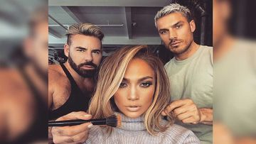 Jennifer Lopez Shares A Make-Up Room Selfie With Her Favourite Men Looking Absolutely Stunning