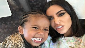 Kim Kardashian Frightens Son Saint West By Using A Creepy Spider Filter On Social Media- Watch Video