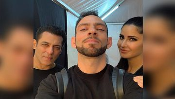 Katrina Kaif's Trainer Shares An Internet Breaking Selfie With Salman Khan And Kat Twinning In Black