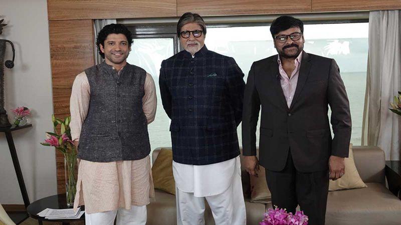 Farhan Akhtar Hosts A Discussion With Sye Raa Narasimha Reddy Stars Chiranjeevi And Amitabh Bachchan