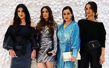 Fabulous Lives Of Bollywood Wives Star Neelam Kothari Teases Fans With A Pic Of Her 'Awesome Foursome'; Ladies Scorch It Up In RED