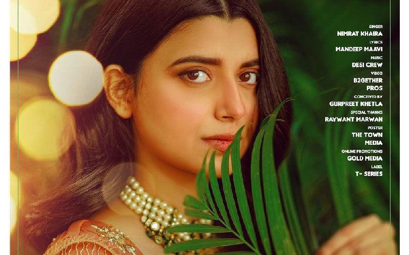Nimrat Khaira Shares Poster Of Her Next Song 'Gulabi Rang'