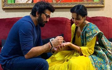 Kamya Punjabi's Husband Lovingly Applies Mehendi On Her Hands On The Occasion Of Karwa Chauth 2020