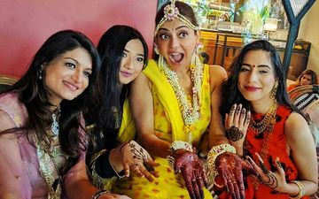 UNSEEN PICS From Kajal Aggarwal's Haldi And Mehendi Ceremony With Her Girl Gang Are LIT; Actress Looks Ethereal As She Poses For The Camera