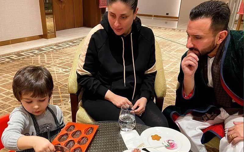 Taimur Ali Khan Aka 'Master Chef Taimur' Enjoys A Culinary Session; Tim Tim Makes Chocolate Egg Shells With Mom Kareena Kapoor Khan And Dad Saif Ali Khan