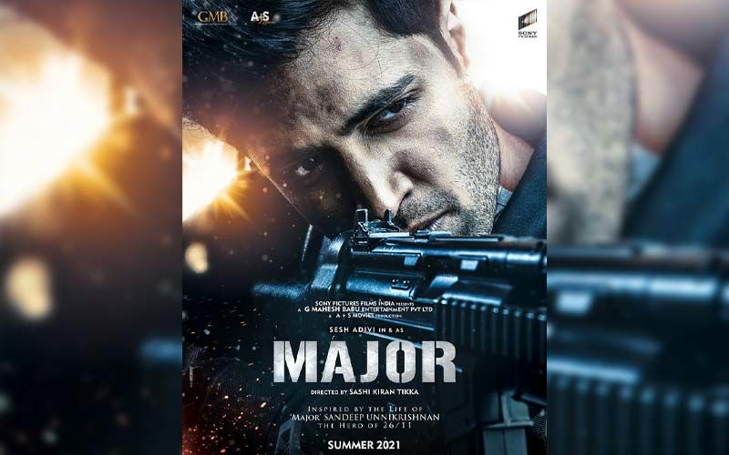 Major First Look Poster Captures The Fierce Bravery Of Major Sandeep Unnikrishnan