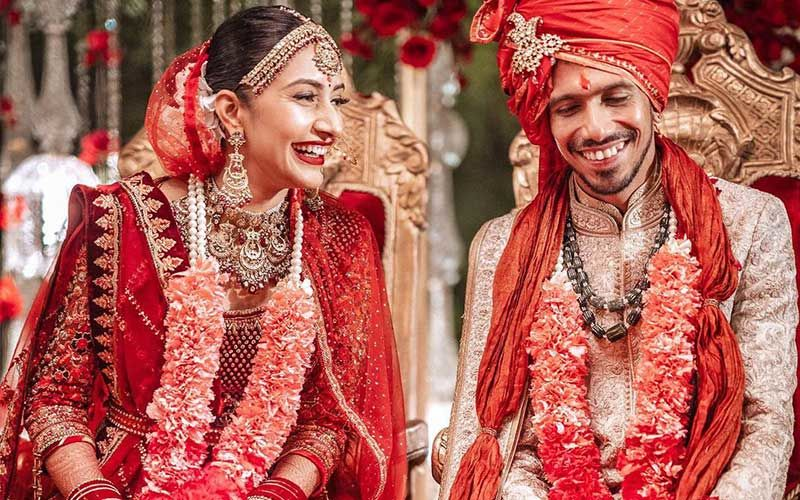 FIRST PICTURE: Indian Cricketer Yuzvendra Chahal Gets Married To Ladylove Dhanashree Verma; NewlyWeds Look Stunning In An Intimate Ceremony