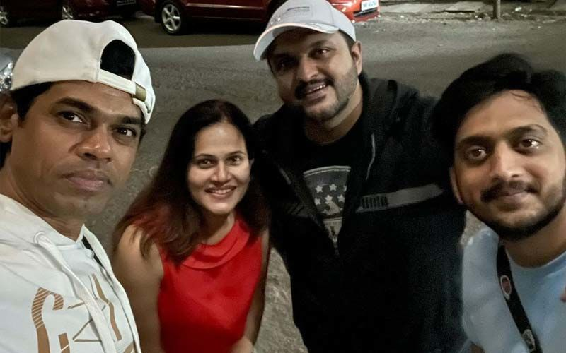 Manava Naik, Siddharth Jadhav, And Amey Wagh Catch Up At Pre-Release Of An Upcoming Movie