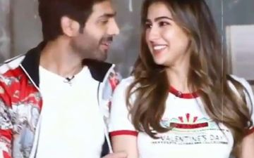 Sara Ali Khan Gets Kartik Aaryan To Hold Her Waist While He's Busy Talking; Video Is Next Level Adorbs - WATCH