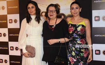 Mentalhood Screening: Kareena Kapoor Khan And Mommy Babita Flank Karisma Kapoor On The Red Carpet - Winsome Kapoor Threesome